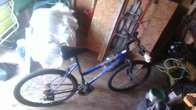 this is my bike in the shed