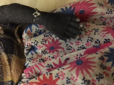 The doll has real human fingernails