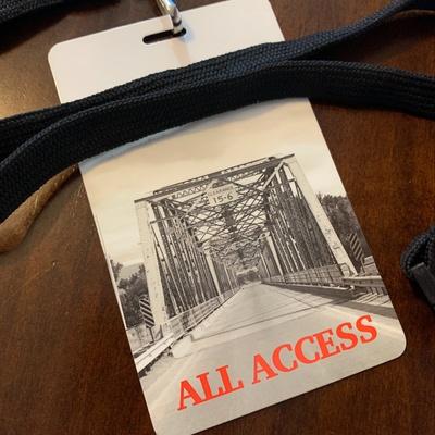 "A lanyard pass that reads ""All Access"""