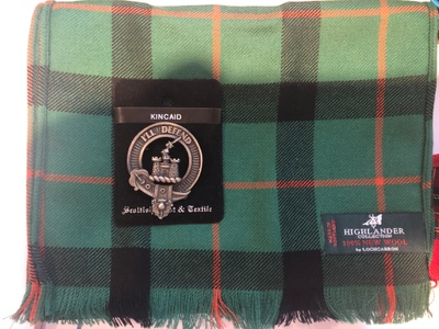 Scouttish Tartan and pin