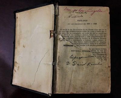 Prologue of Dictionary / Signature