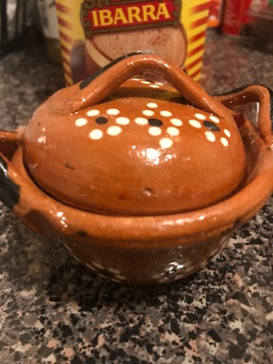 Mexican pot cooking clay or cazuela.
