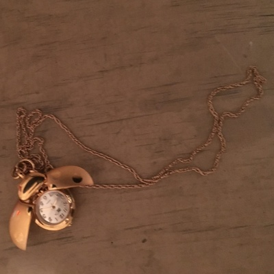 A necklace my great grandma gave me.