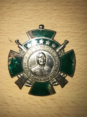 The front of the military badge