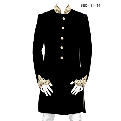 This is an example of a traditional Sherwani.