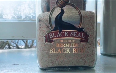 bottle of Bermuda sand