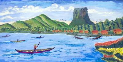 Landscape of Burma: Kwe Ka Ba Mountain
