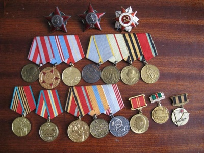 My great-grandfather's medals.