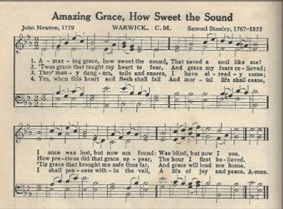 Sheet Music, Amazing Grace