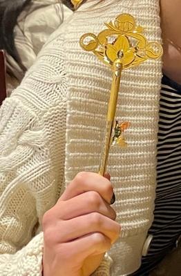 Traditional Korean gold key