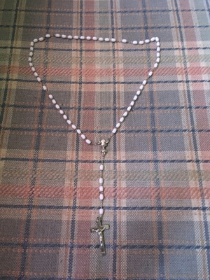 A cross necklace