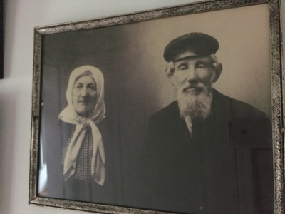 My father's father and my father's mother, from Russia