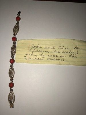 bracelet and note