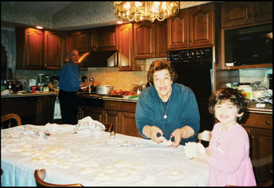 Making Italian food with my grandparents