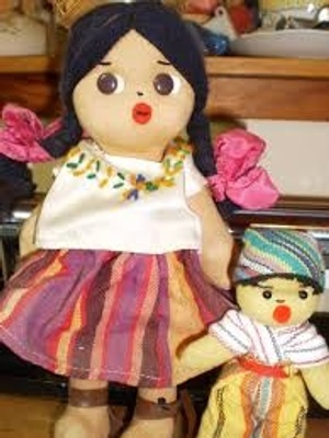 A traditional Guatemalan doll