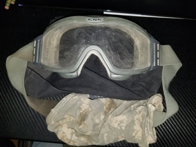Goggles to keep my eyes safe.