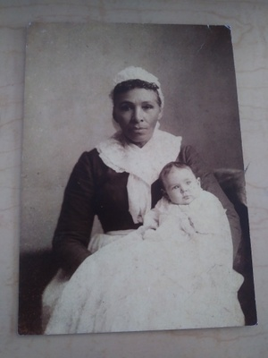 My Great Great Grandmother with her master's grandchild.