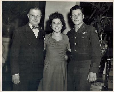 A picture of my grandfather, great grandfather, and aunt