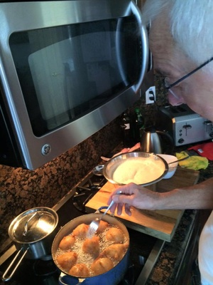 My Opa making oliebollen