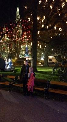 Mara and I at the Rathaus Park