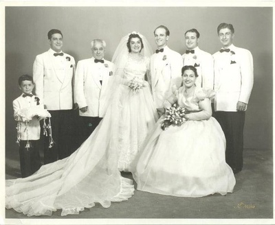 Wedding of Ray and Mary Fantucchio -1952