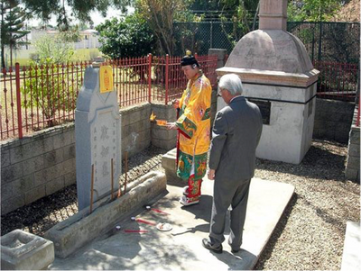 Recent image of the Chinese Memorial Shrine.  (Courtesy of the Chinese Historical Society of Southern California).