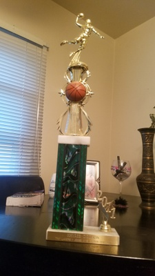 My first trophy playing basketball