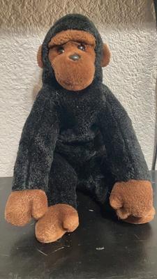 Black/brown stuffed animal monkey
