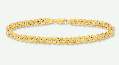 A picture of a gold bracelet