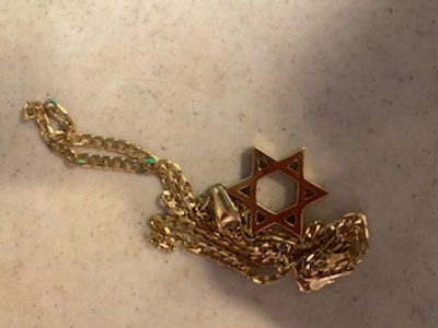 Necklace from Bar Mitzvah.