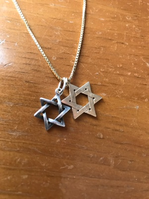 Two Star of David pendants belonging to my father.