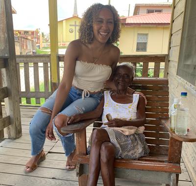 Ms. Eva and I on her veranda