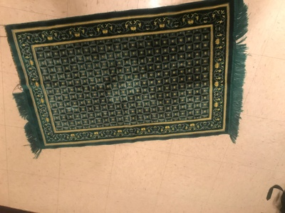 This mat is used for praying because it'