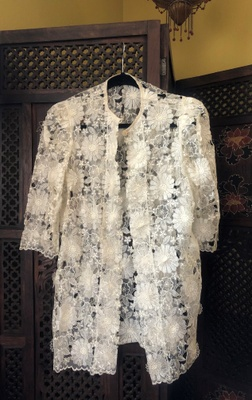 floral embroidered Filipiniana jacket