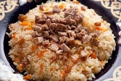 pilaf, main dish in Uzbekistan