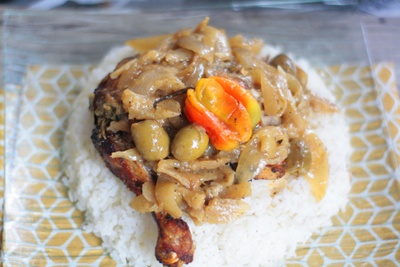 Yassa with chicken