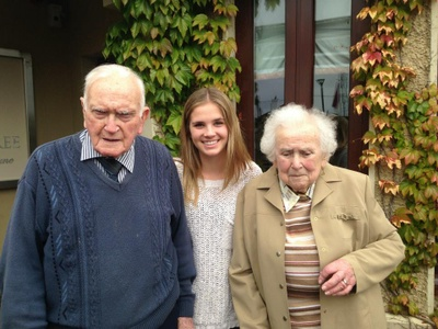 My great uncle and aunt. Meeting them for the first time in Ireland.