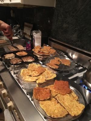 Passover treat: fried matzo, egg, cheese