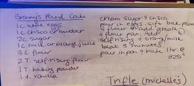Granny Reid's Pound Cake Recipe