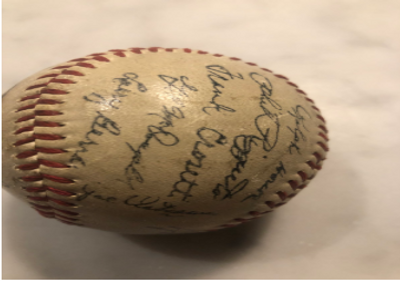 Signed 1951 Yankee Baseball