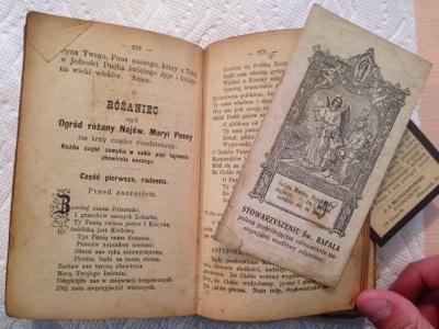 Prayer book, prayer card, and memorial card