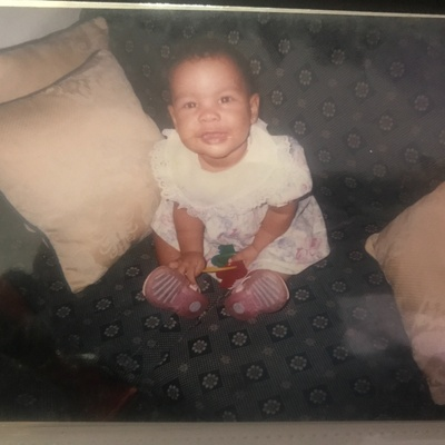 It's a picture of me when I lived in The Dominican Republic  at the age of 1