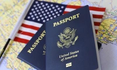The passport of the America