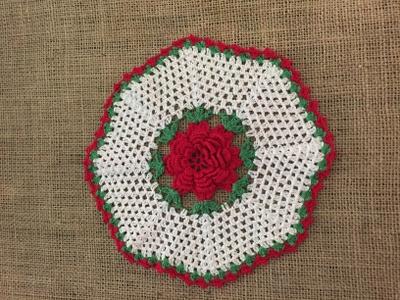 A rose doily