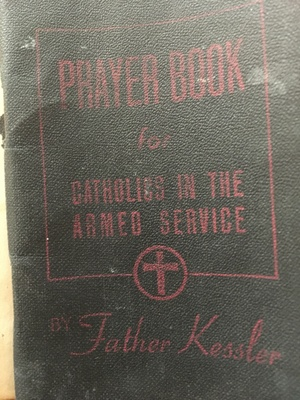 The prayer book given to him.