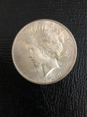 An old dollar coin