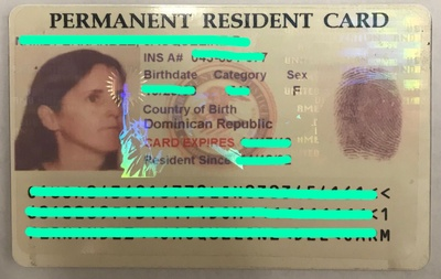 my mom's old green card