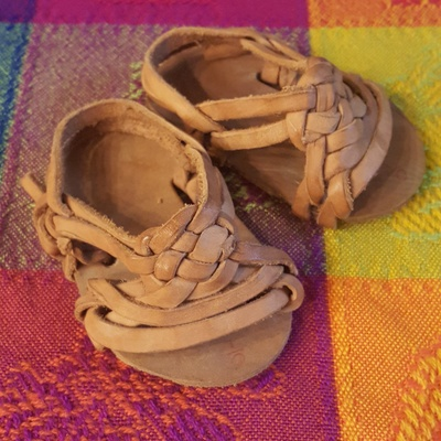 These are baby sandals from Mexico.