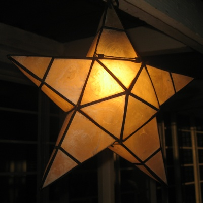 Parol (lantern) made from Capiz shells