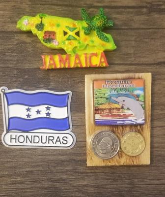 Magnets representing Jamaica & Honduras